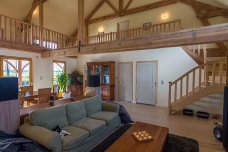 suite parentale dans superbe maison bois - Les Barils