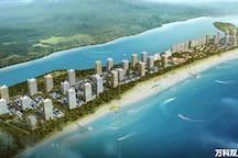 万科双月湾全景图,大手笔海滨度假区。