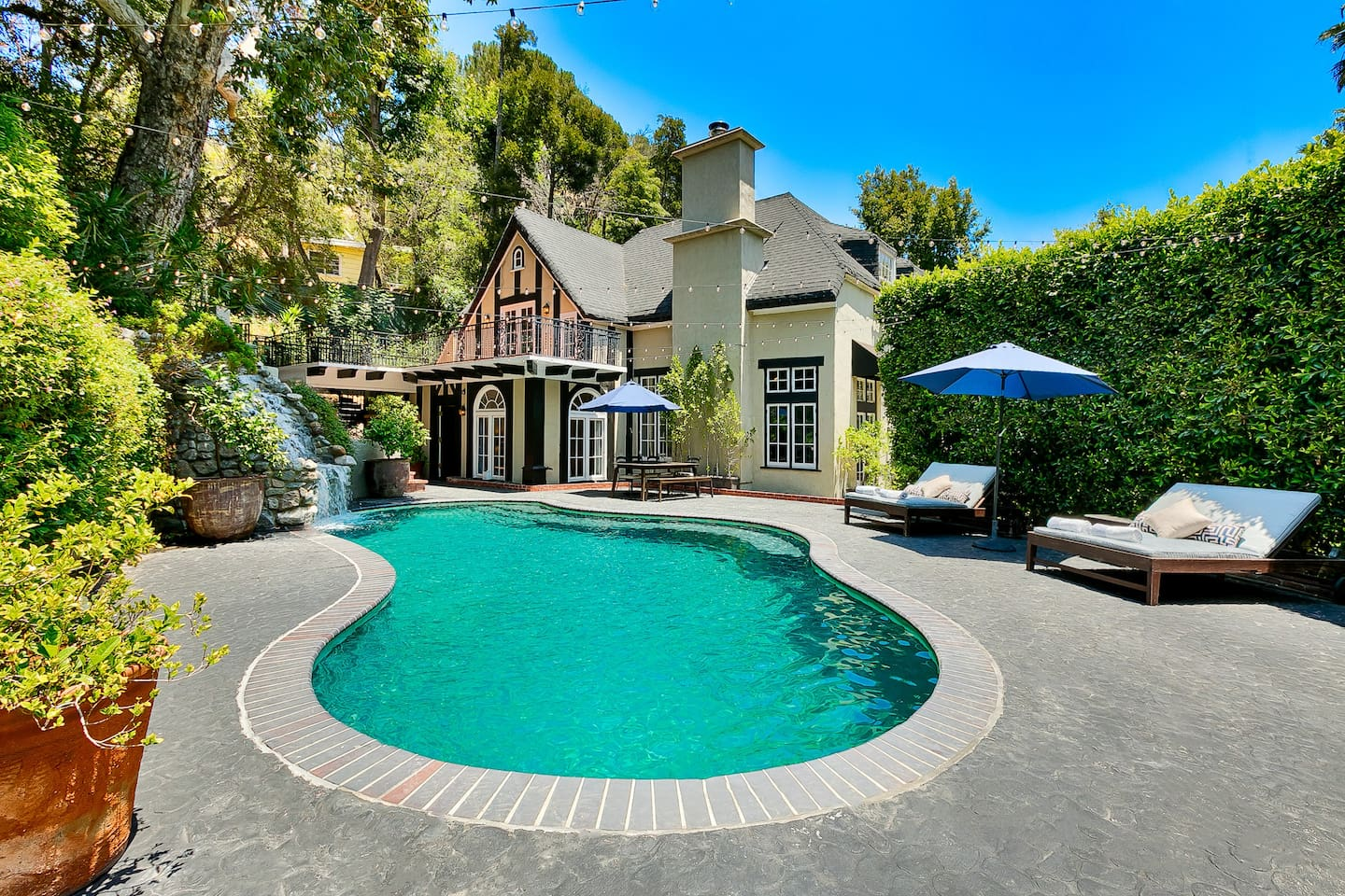 enchanting hollywood hills home with pool houses for rent in los
