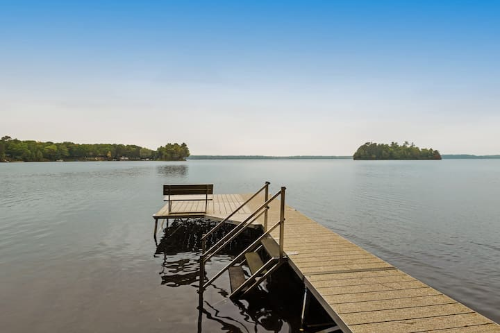 NEW LISTING! Lakefront home w/ lake views, private dock, kayaks, & beach access!