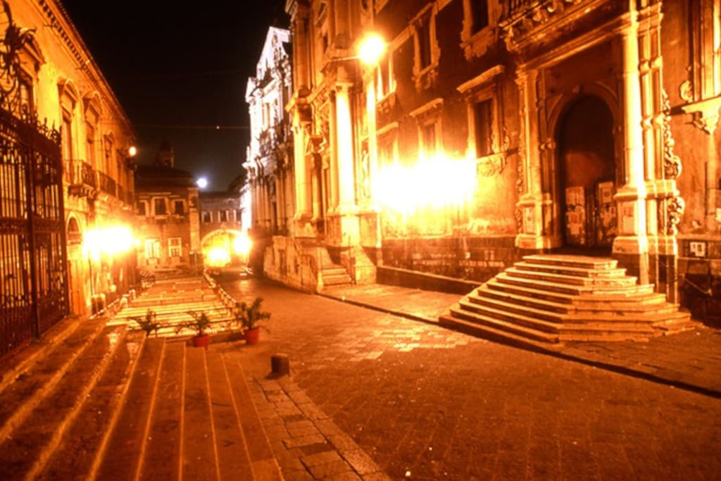 Via Crociferi by night