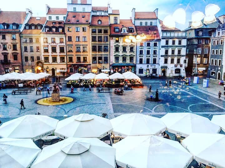 The best VIEW in Warsaw-old town