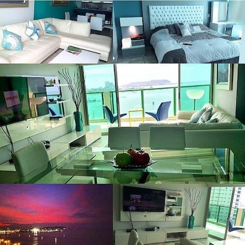 appart meubl 5 toiles vue sur l 39 oc an pacifique appartements louer la libertad. Black Bedroom Furniture Sets. Home Design Ideas