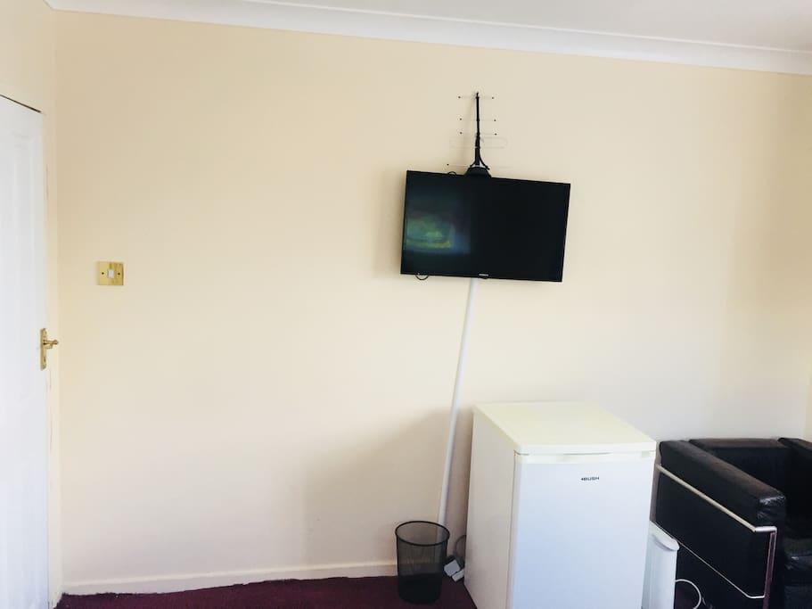 Tv & fridge in your room