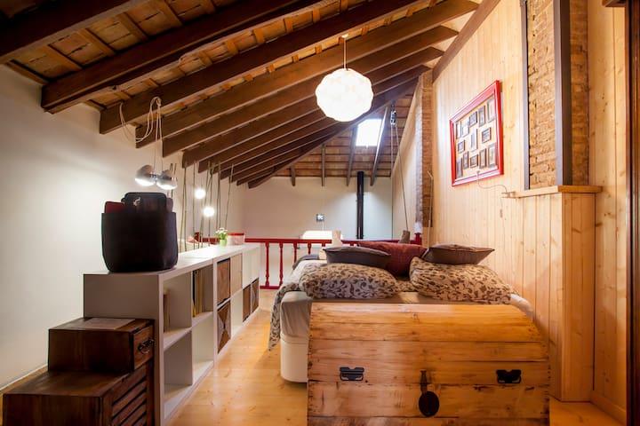 Loft Fribourg, Dormitorio