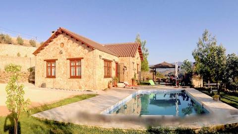 Ktima Athena - Mountain Cottage House with pool.