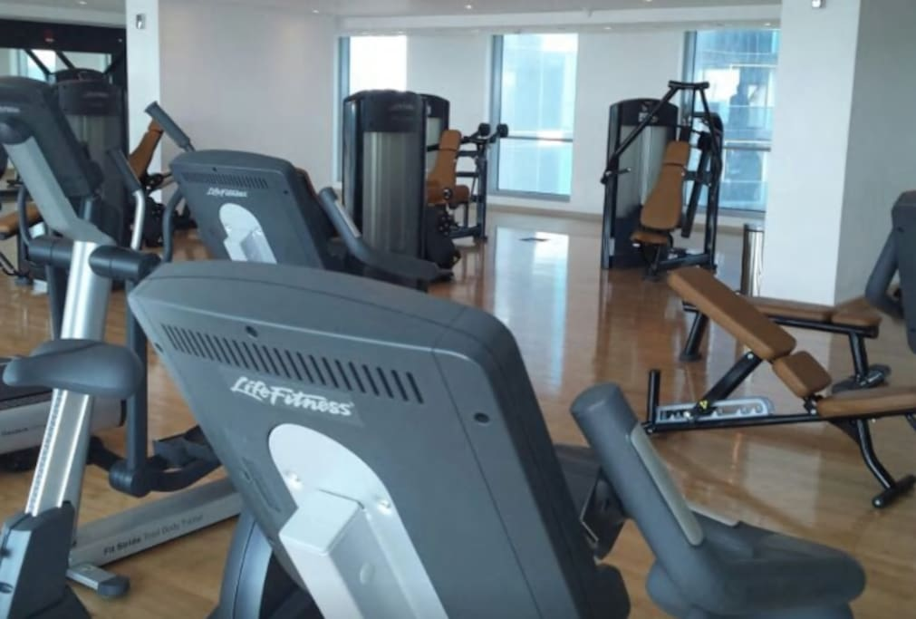 The gym facilities
