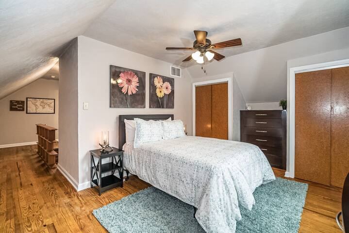 Bedroom 3 is upstairs