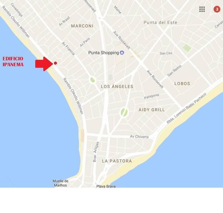 Mapa de la ubicación