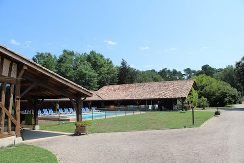 Domaine 24 p, piscine chauffée, SPA et sauna