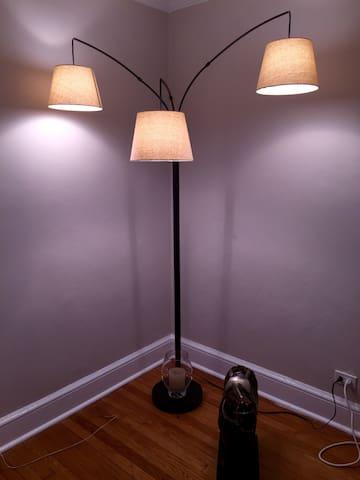Lamp in living room