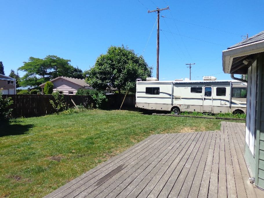 Back deck and RV pad