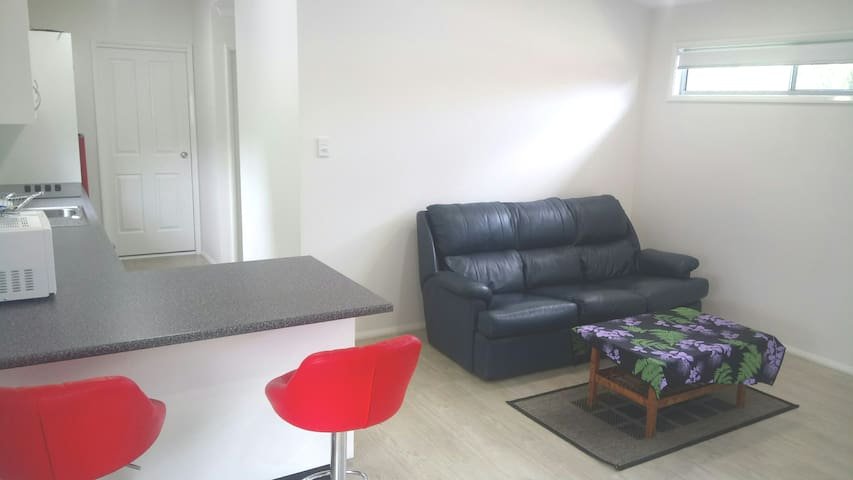 3 seater couch / extra pillows and blankets will be available for 5th person booked to stay.
