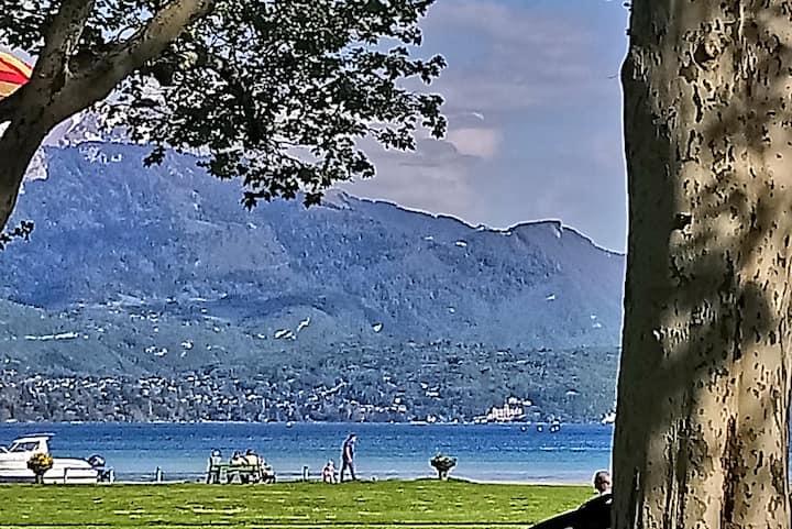 Studio centre ville avec vue sur le Lac