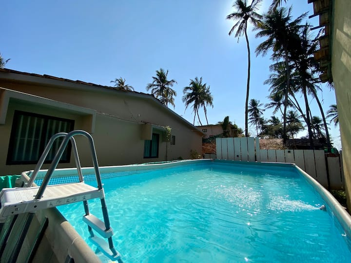EKO STAY | Beach Front 3BHK House with Pvt Pool