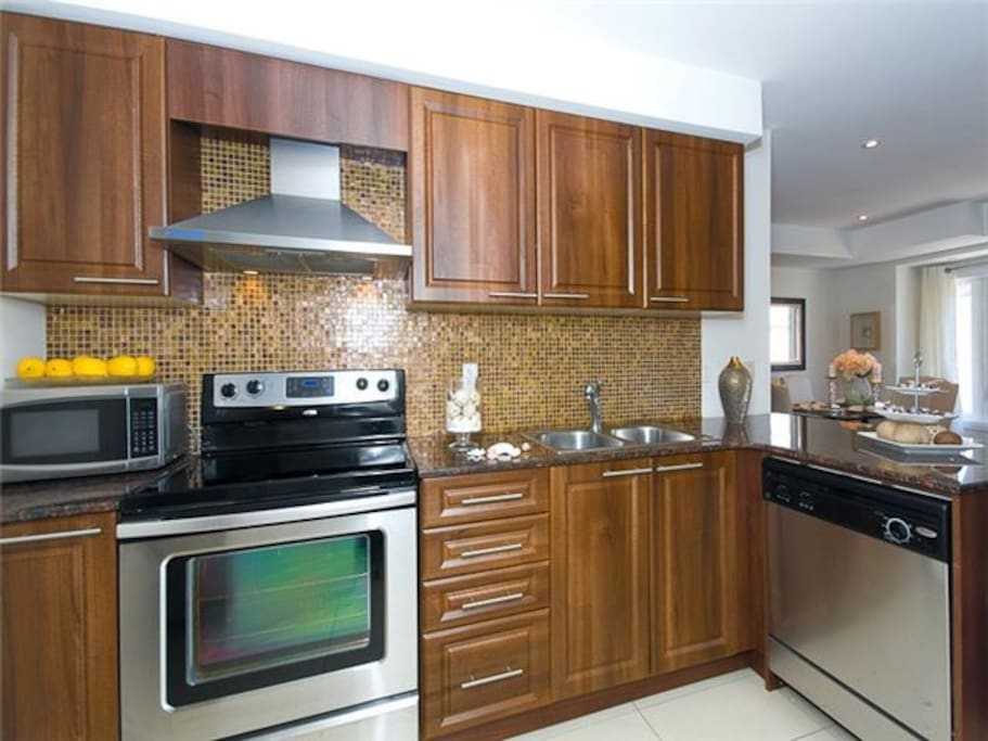 Well furnished kitchen.
