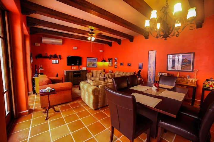 Charming 1 BR & 2.5 BA Casita in the colorful Loreto Bay. Golf cart Available