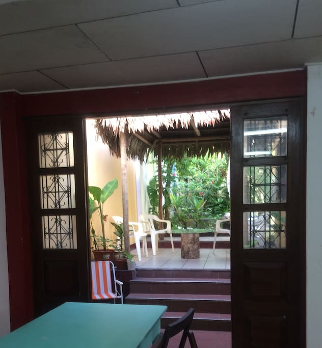 Our mango terrace now has shade, nice and cool