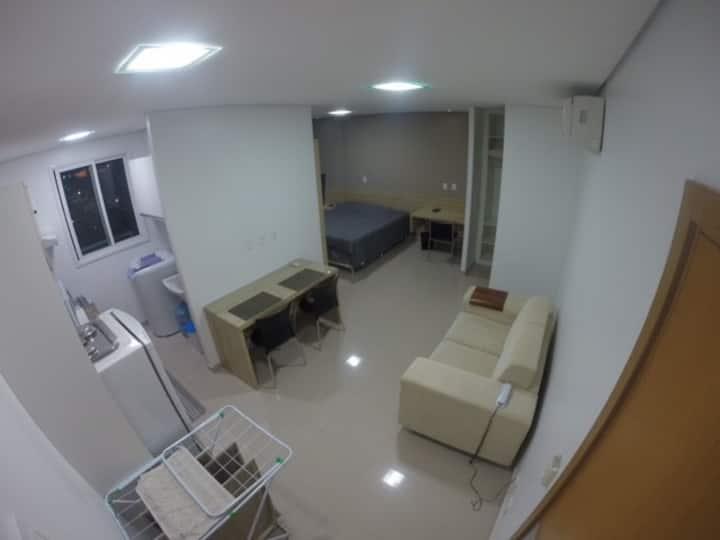 404 Flat com cozinha em bairro nobre - Vieiralves