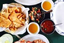 Local Lobster Fiesta's at La Fonda Restaurant