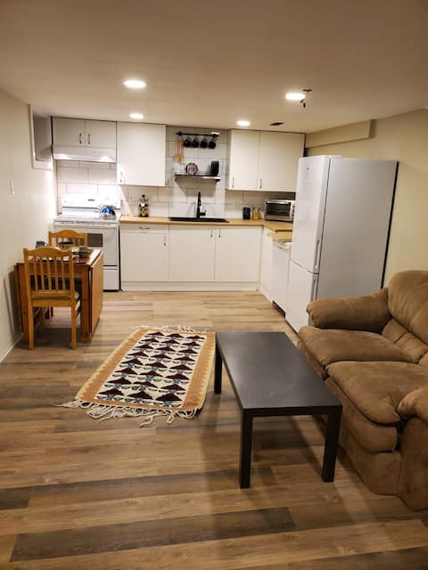 Bright & clean basement apt. Newly renovated