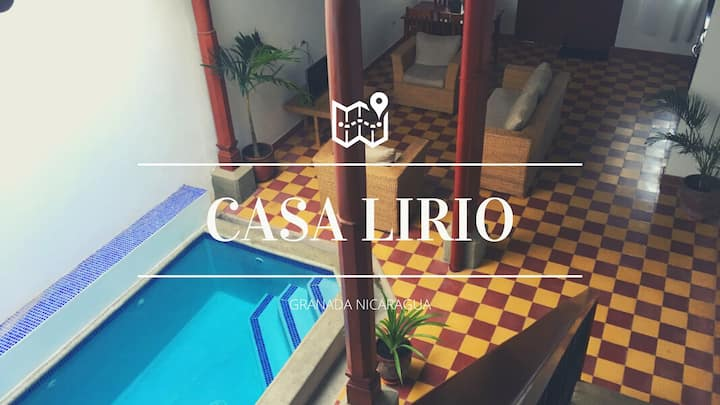 CASA LIRIO. Casa colonial with swimming pool