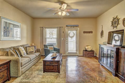 NEW LISTING! Charming, dog-friendly townhome w/ shared pools - walk to the beach