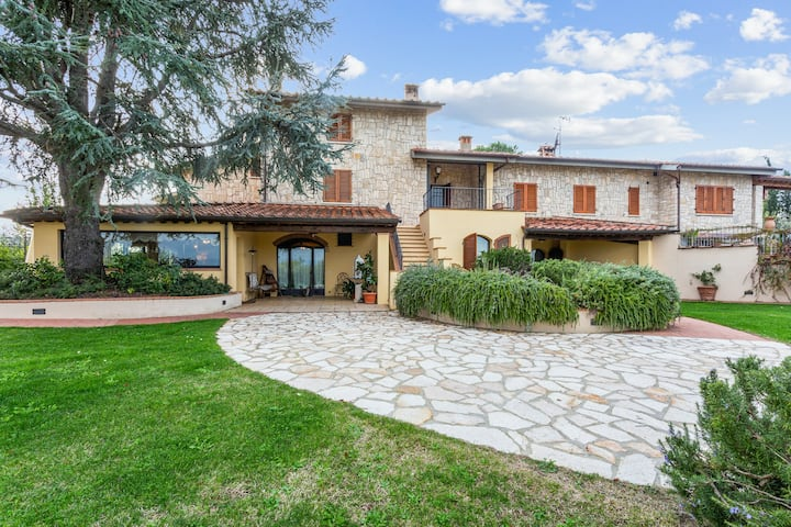 Incredible dog-friendly villa w/ a private pool, indoor dry sauna, & fireplace