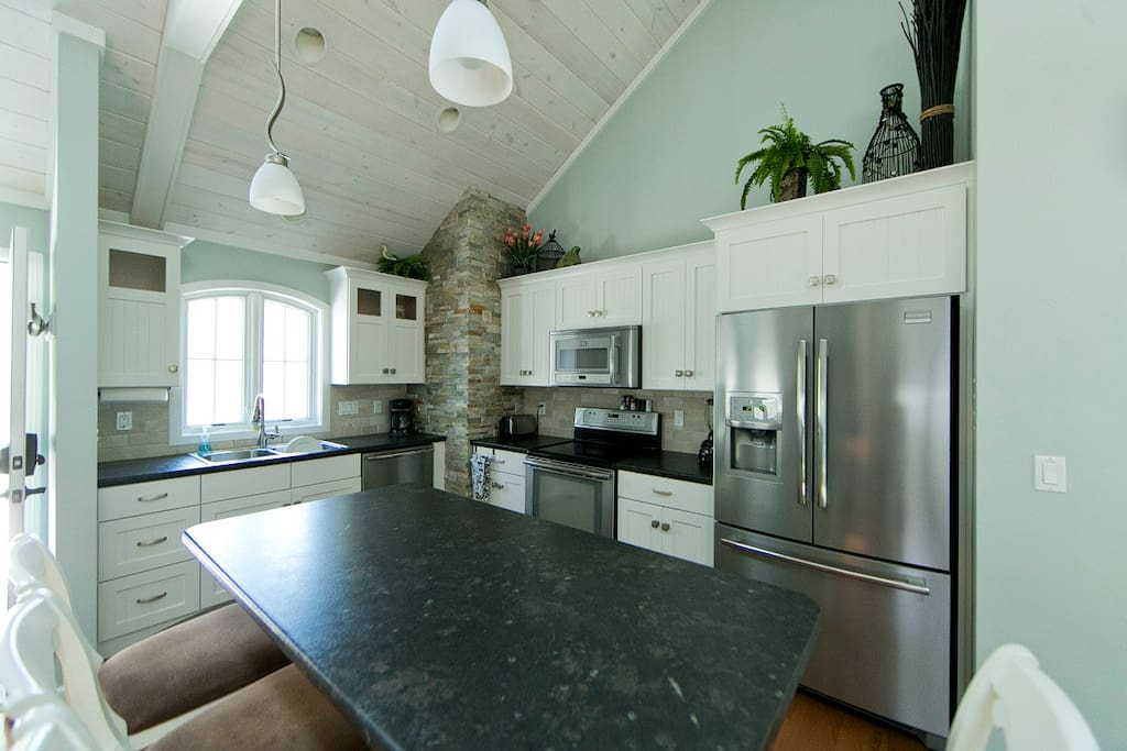 Kitchen is bright and inviting