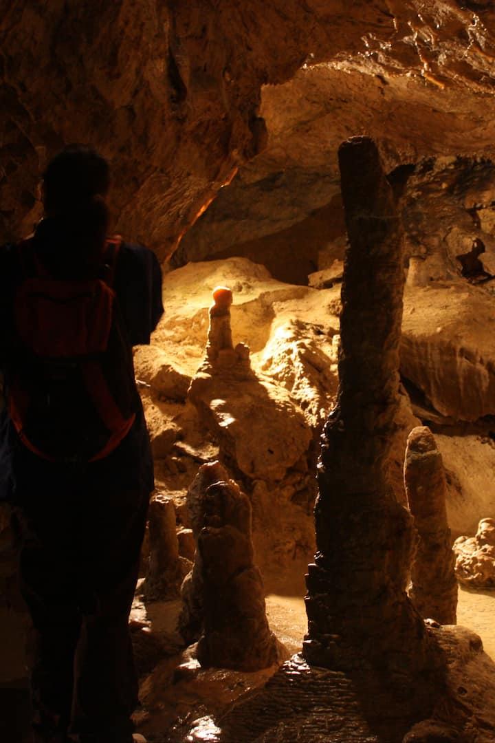 Man-size stalagmite