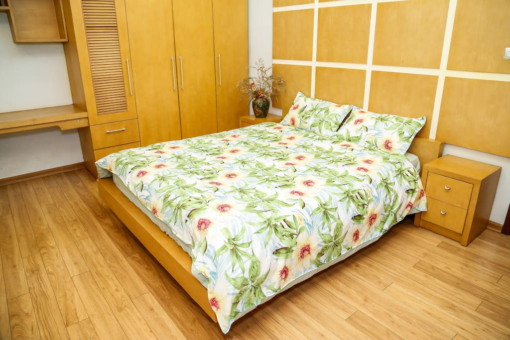 Room 2 - SLEEP - The room has a queen-sized bed and comfortably sleeps two people. Towels are provided
