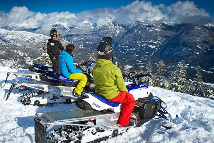 The Snowmobile Groups Paradise, Crowfoot Mountain.