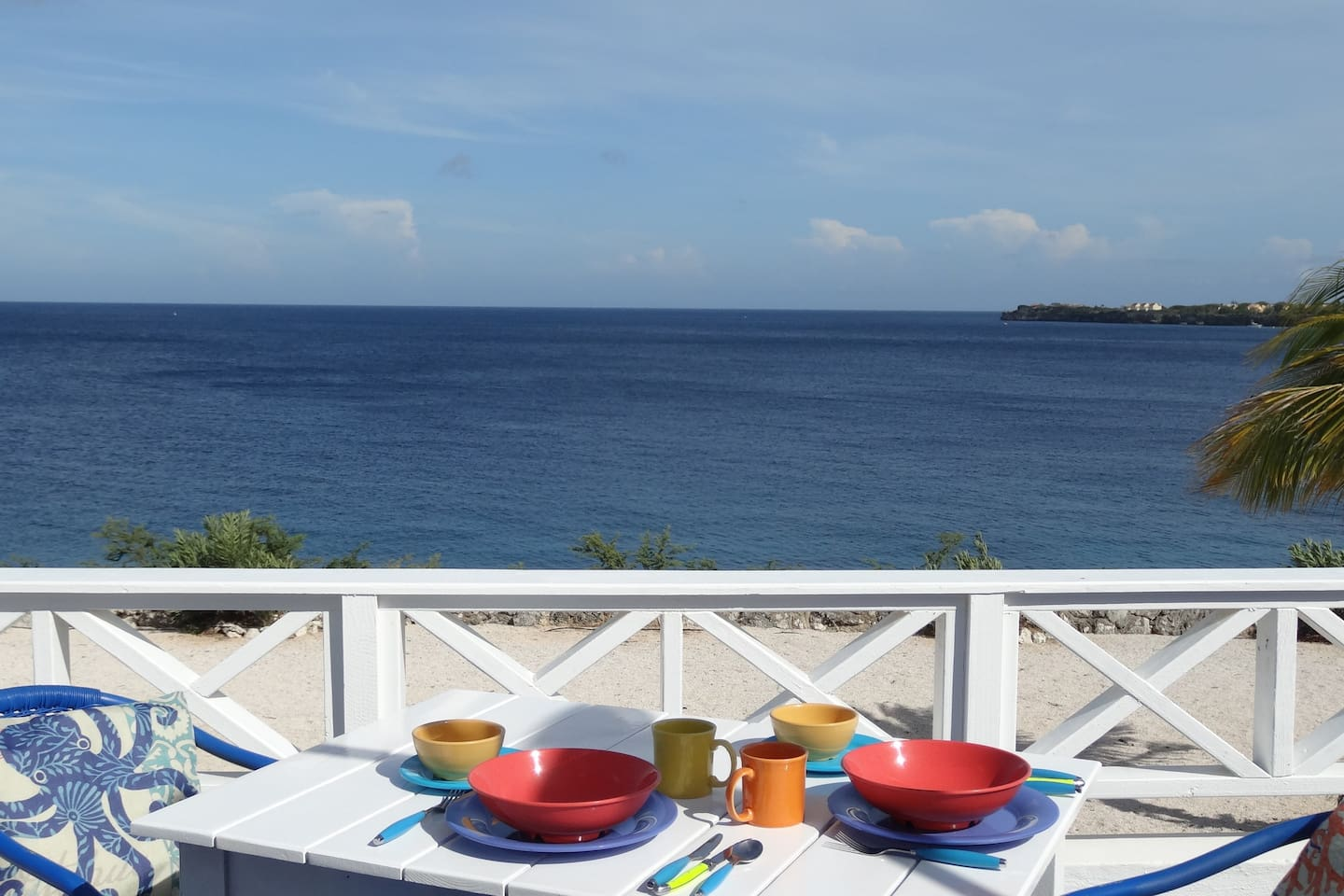 The 2nd floor balcony is a fantastic spot to enjoy a meal, take in a tropical sunset or gaze at the stars.
