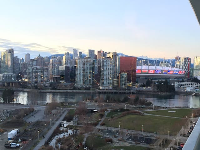 Modern Fully Furnished 1.5 bdrm with Downtown view