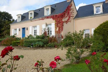 Maison d'hôtes Nantes & Angers - Varades - Oda + Kahvaltı