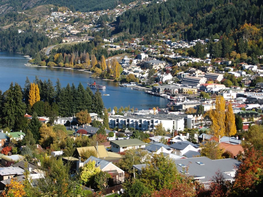 Queenstown town centre - view from the loft