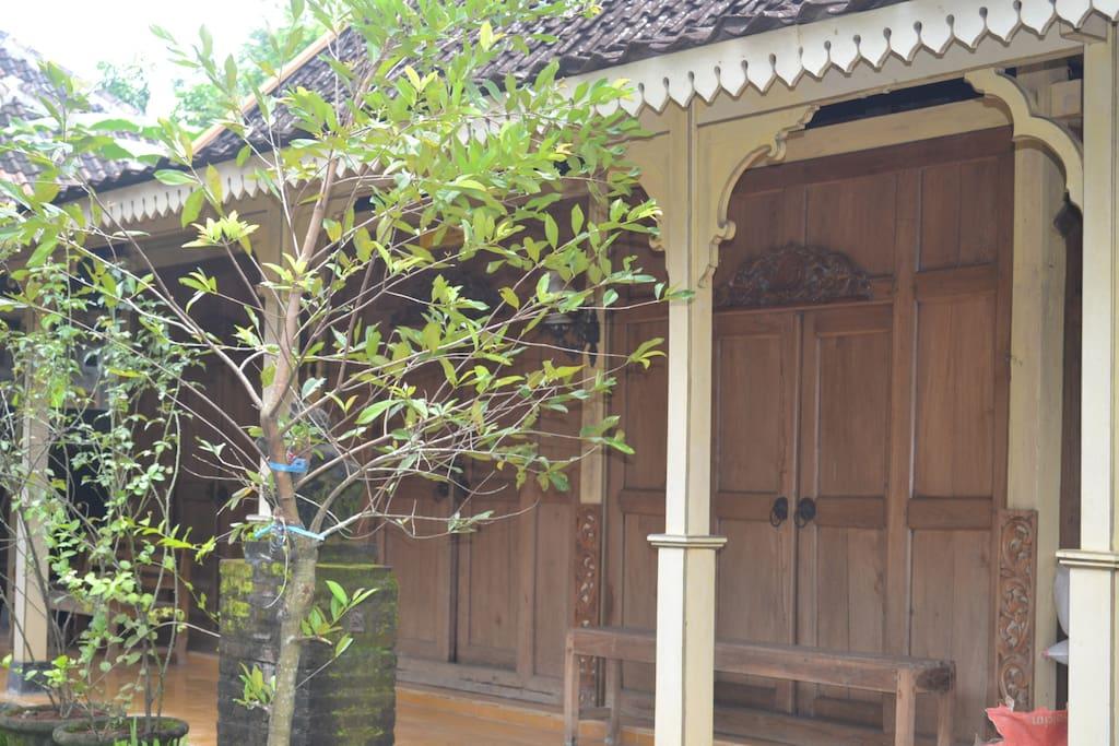 The side house (Limasan Traditional Java house)