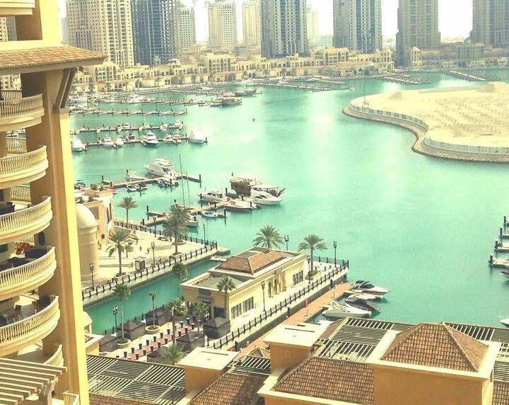 Full sea view apartment, prime location, Pearl