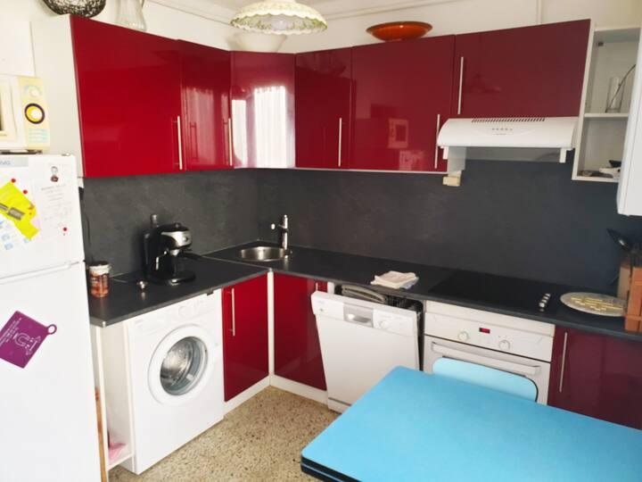 Grand appartement chaleureux au coeur de Sète