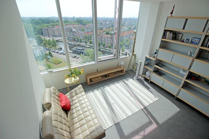 Spacious Studio with City Skyline View