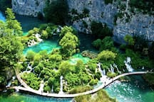 Plitvice lakes national park. Only an hour away from the apartment.