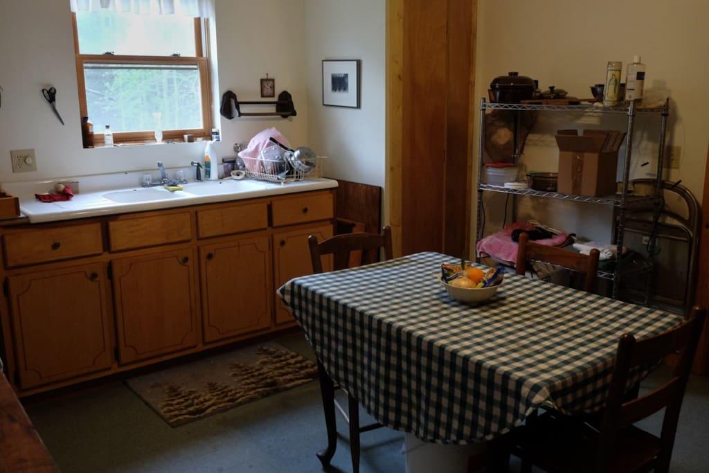 The shared kitchen