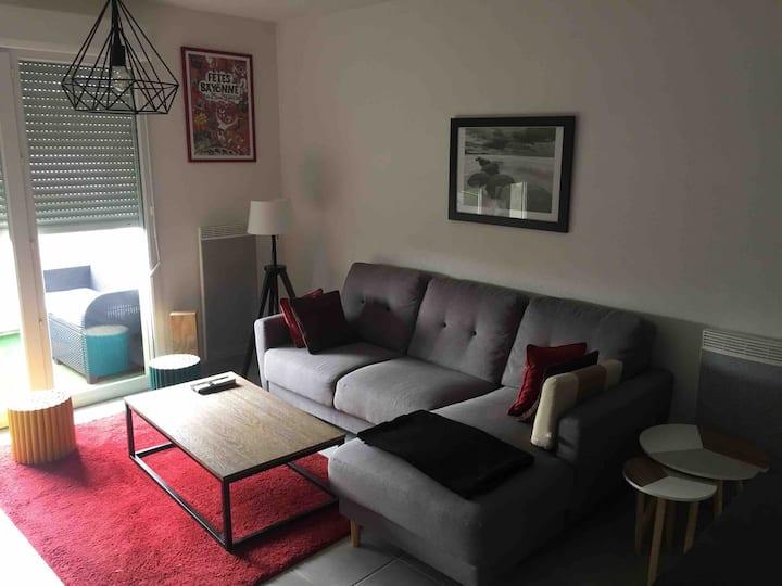 Appartement sympathique lumineux proche de Bayonne