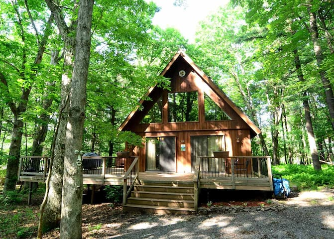 Dog friendly lake access home with hot tub, gas grill, and sandy beach area!