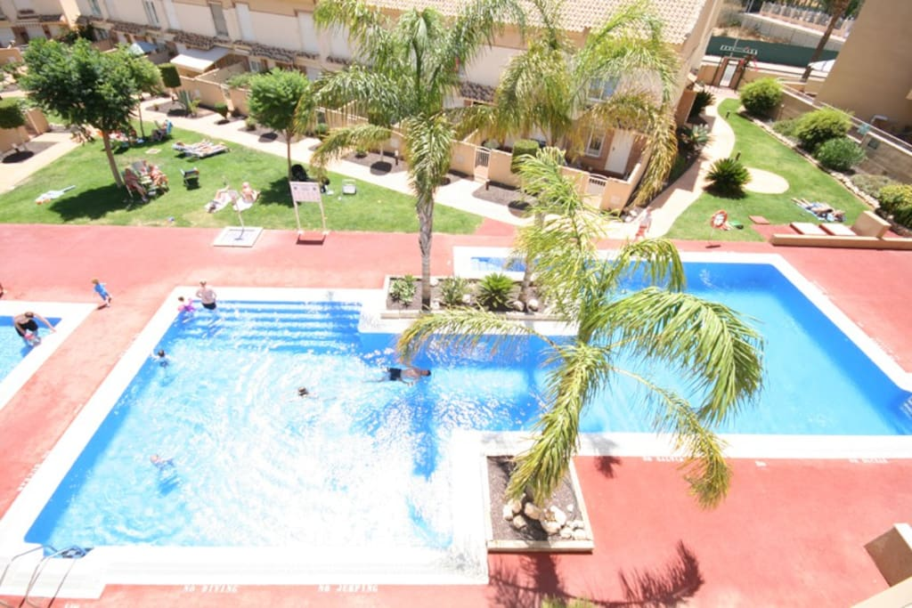 View of the swimming pools