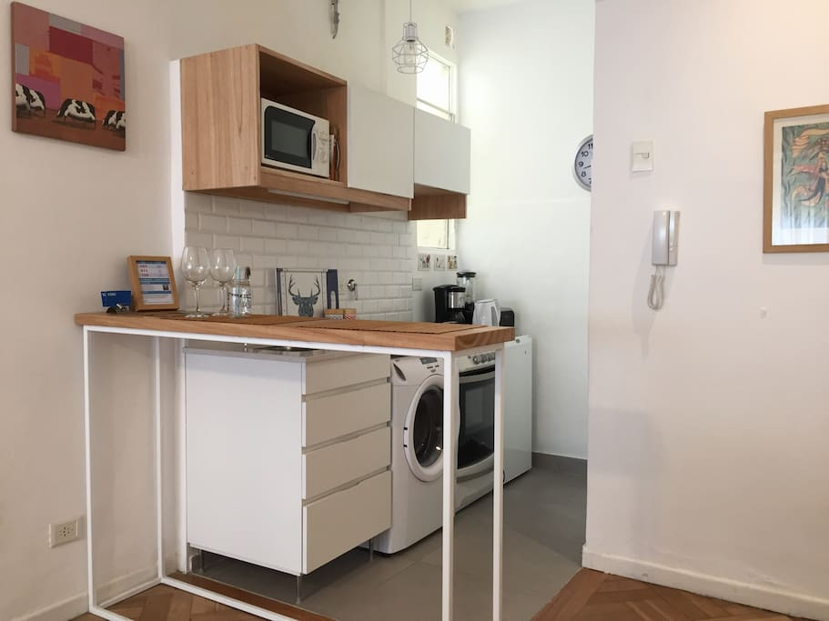 The kitchen in modern and fully equipped
