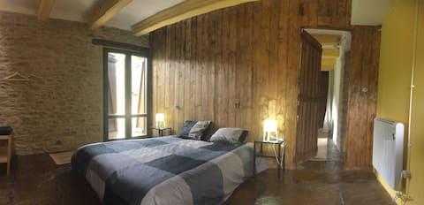 Charming room luxury view Pyrenees Aragonese