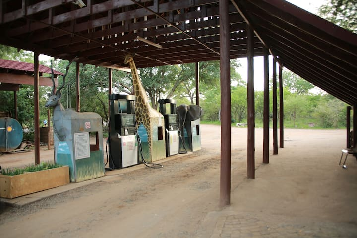 Petrol station in the Park
