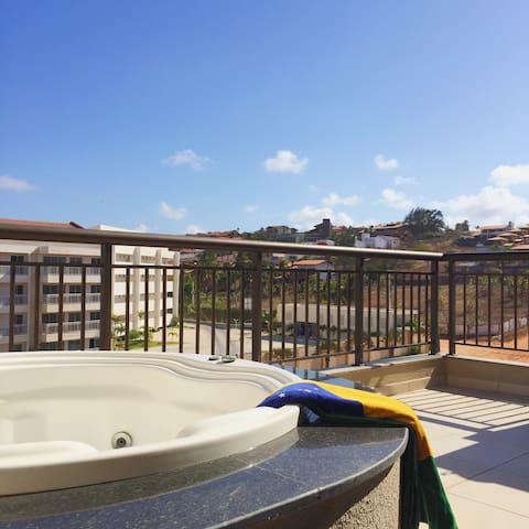 Duplex de luxo em Resort no Porto das Dunas