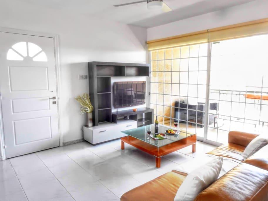 Enjoy the lounge area watching TV